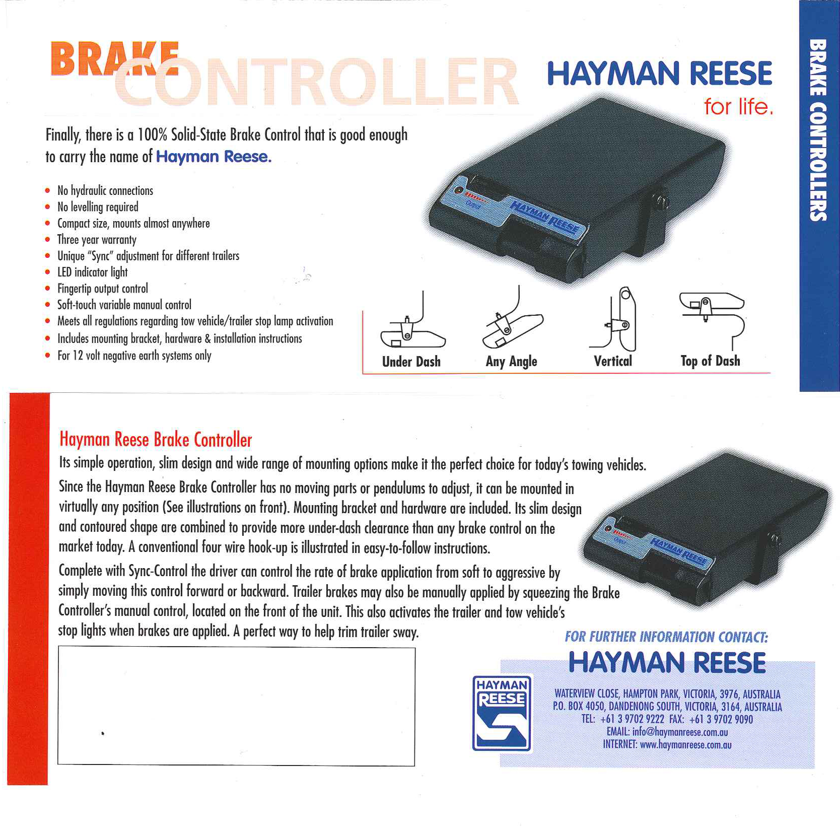 Kelsey Trailer Brake Controller Wiring Diagram Simple Guide About Impulse Hayman Reese Guardian Iq 39